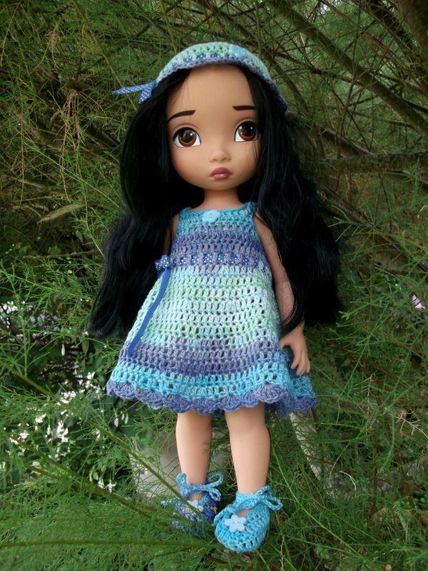 22- FICHE PATRON Pastel pour poupée Animator : Jeux, jouets par atelier-crochet
