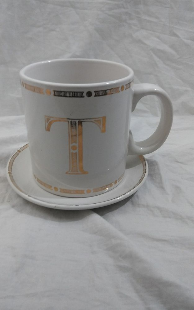 Beautiful Oversized Coffee Cup and Saucer