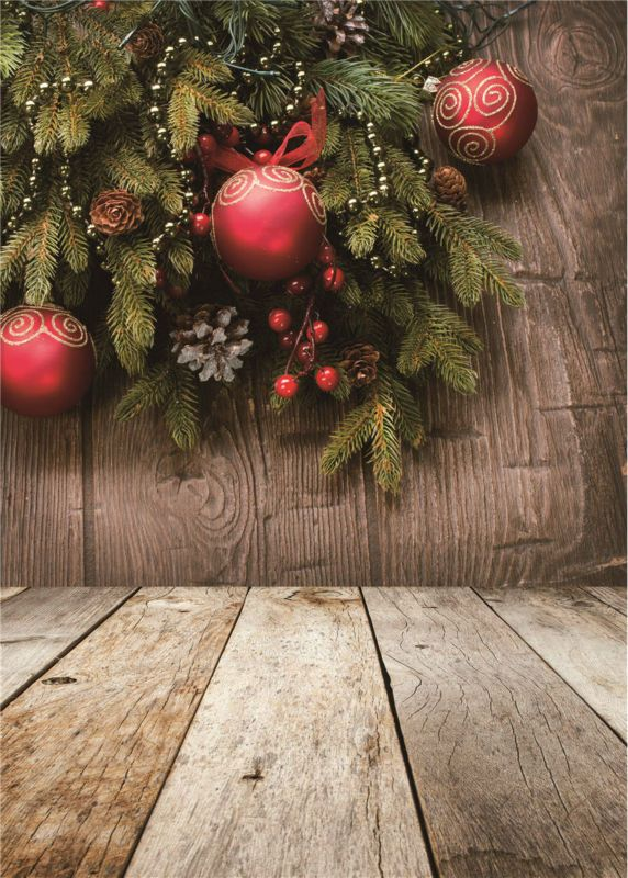 Photo Background Christmas Trees Wooden Floor Vinyl Children Photography Backdrops 5x7ft or 3x5ft Jiesdx027