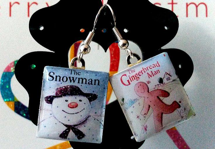 GingerBread & SnowMan Scrabble Earrings