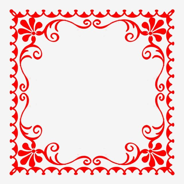 European Style Pattern Red Lace Horn Flower Pattern Frame Png Transparent Clipart Image And Psd File For Free Download Flower Patterns European Fashion Pattern Fashion