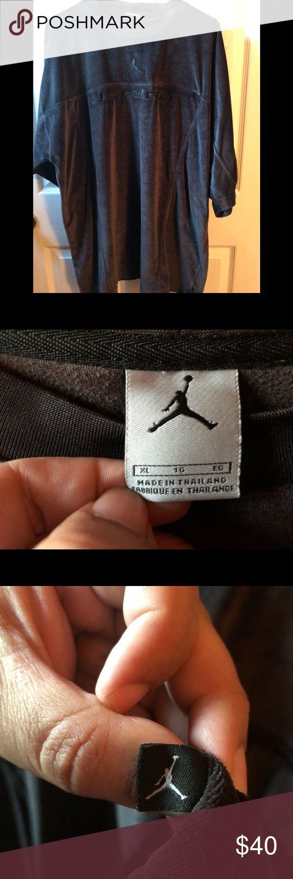 Men's Jordan Velvet Shirt Men's Jordan shirt. This item is gently used and is 100% polyester. In great condition!! 🔥 Michael Jordan Shirts Tees - Short Sleeve