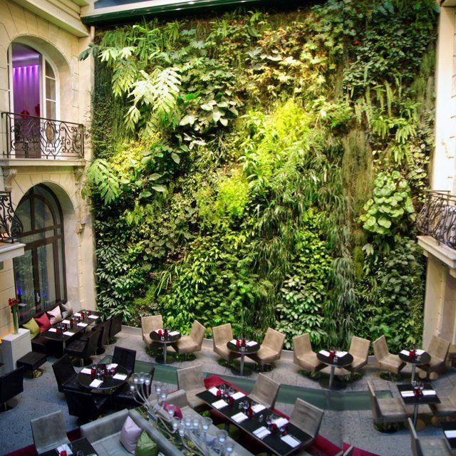Hotel Pershing Hall, ParisGardens Ideas, Pershing Hall, Living Wall, Green Wall, Paris France, Gardens Wall, Vertical Gardens, Paris Hotels, Travel Destinations
