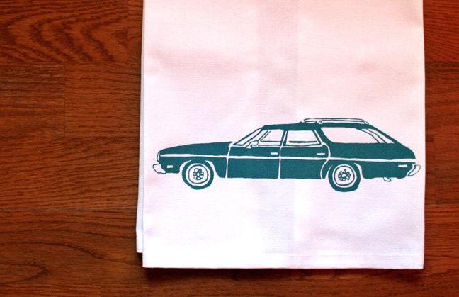 station wagon tea towel