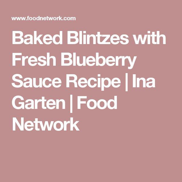 How do you make fresh blueberry sauce?
