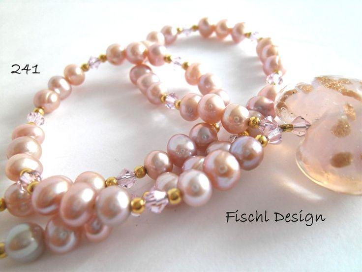 Dirndl-Kette Perlenkette Herz 241 von Fischl Design auf DaWanda.com