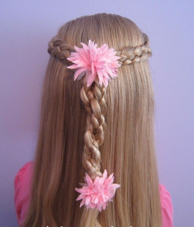 25 Cute Hairstyles and Tutorials for Your Daughter Braided Hairstyle for Little Girls via http://www.prettydesigns.com/25-cute-hairstyles-tutorials-daughter/