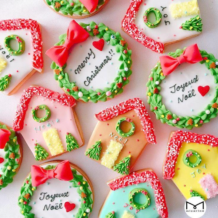 クリスマスハウス&クリスマスリース  アイシングクッキー  伊勢丹新宿店本館2Fイセタンガール  #micarina #instagood #love #happy #sweets #icing #cookie #kawaii #icingcookie #アイシングクッキー#伊勢丹新宿店#イセタンガール#isetangirl#伊勢丹 #ミカリナ#クリスマス #christmas  #xmas