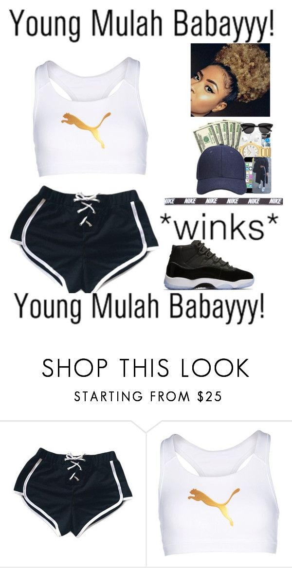 """""""hip hopper - blac youngsta & lil yachty ✨'"""" by xxluxury ❤ liked on Polyvore featuring AG Adriano Goldschmied, Puma and NIKE"""