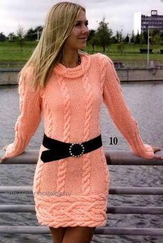 модель платья спицами