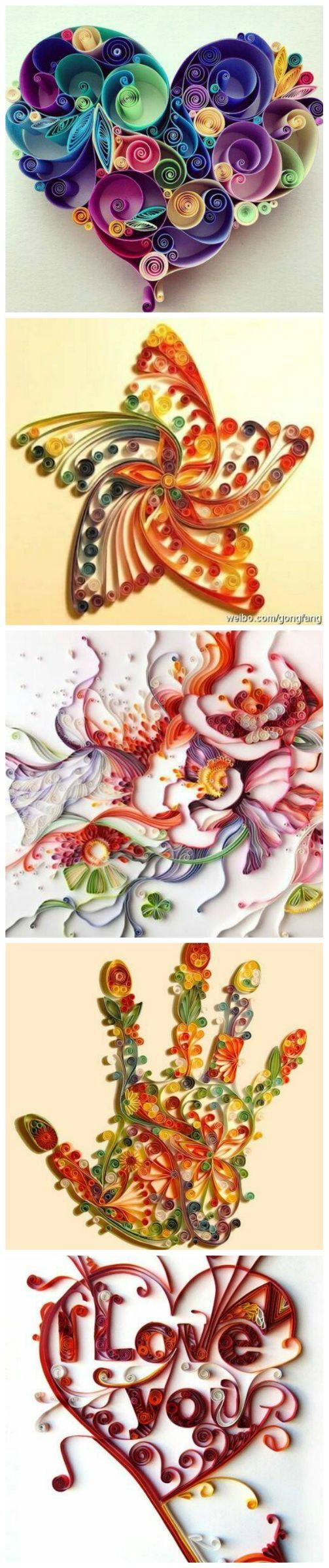 *QUILLING ~ The Art of Turning Paper Strips into Amazing Artworks