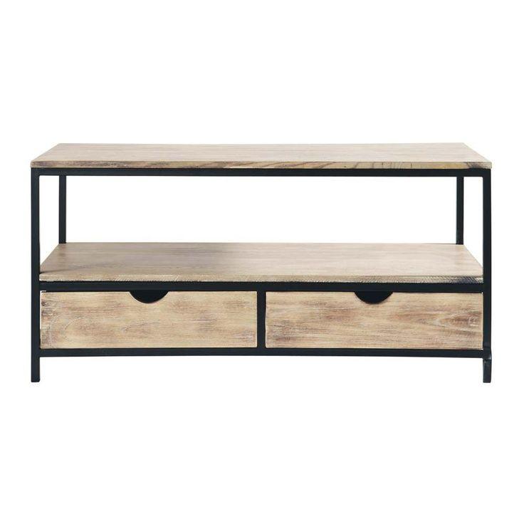 les 25 meilleures id es de la cat gorie meuble tv bois massif sur pinterest salons de. Black Bedroom Furniture Sets. Home Design Ideas