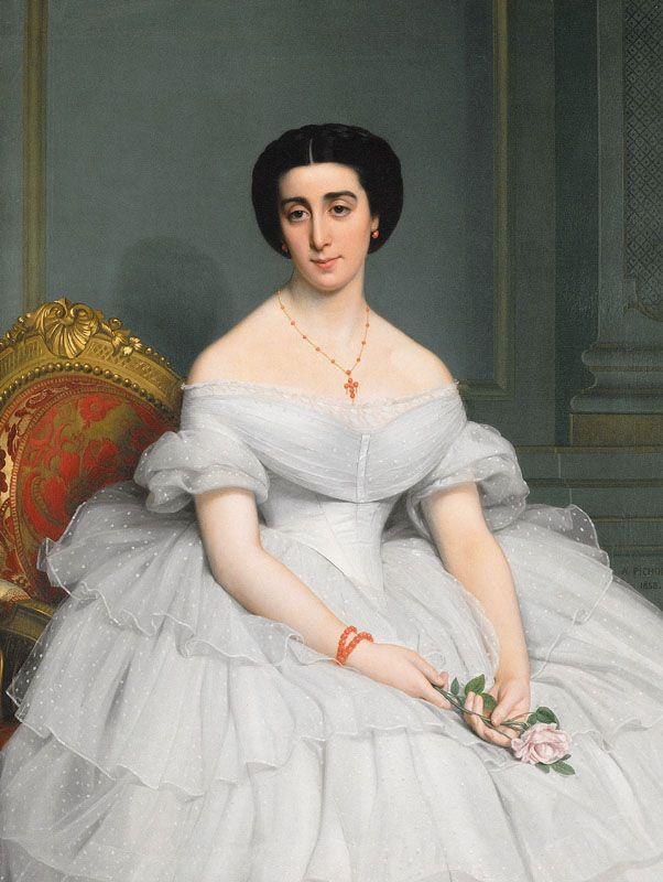 1858. Comtesse Sauvigny, née Marie Alice Singher, by Auguste Pichon. Musée des Augustins, Toulouse.