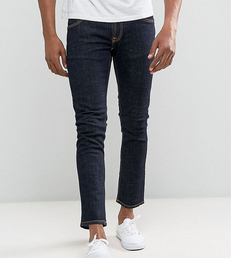 Nudie Jeans TALL Tight Long John Skinny Jeans Twill Rinsed Wash - Blue