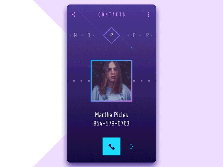Contact List Concept Scrolls Tubik