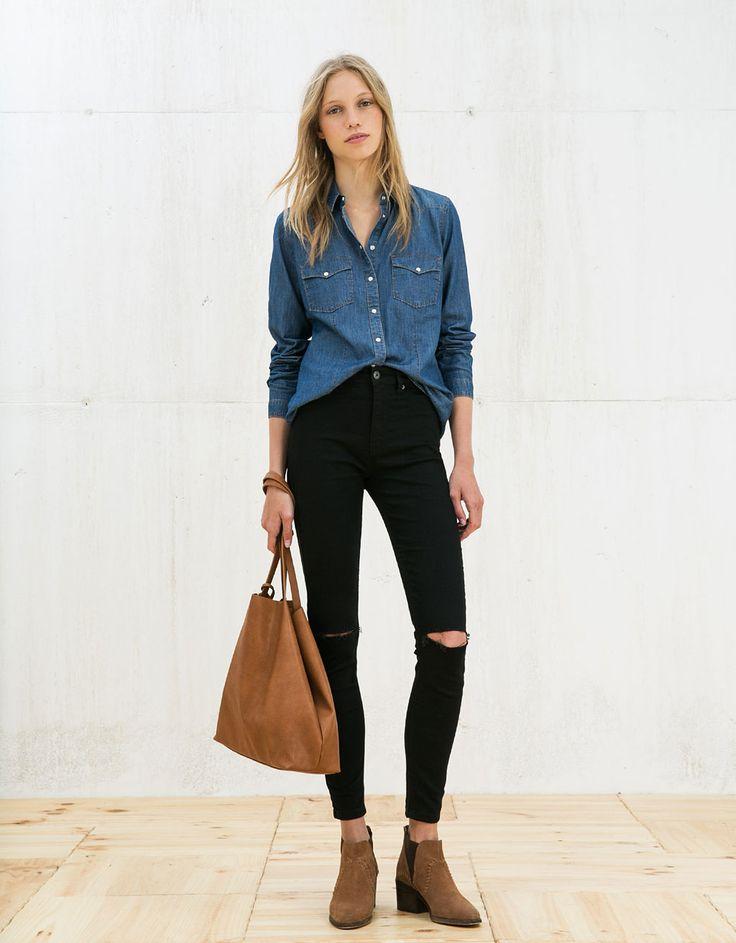 17 meilleures id es propos de chemise en jean homme sur pinterest chemise jean homme hommes. Black Bedroom Furniture Sets. Home Design Ideas
