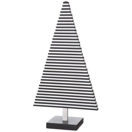 A contemporary take on natural appeal, this attention-grabbing tree features black and white slats that move to create your own sculptural masterpiece.