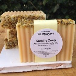 Haarzeep, kamille & Citrus - voor vet haar - www.helemaalshea.nl