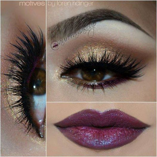 glitter Eye Makeup Designs | 14 Stylish Shimmer Eye Makeup Ideas for 2015 New Year's Eve