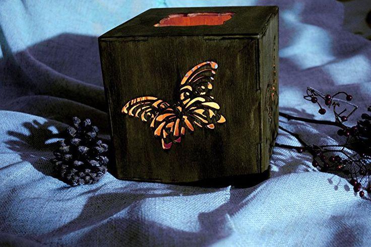 Rustikale Holz Kerzehalter Teelicht Schmetterling Hochzeit Beleuchtung Hölzernes Mittelstück Hochzeit Dekoration Strand Hütte Dekor Wohnzimmer Land Dekor Hochzeit Mittelstück Weihnachtsgeschenk Ideen Weihnachten