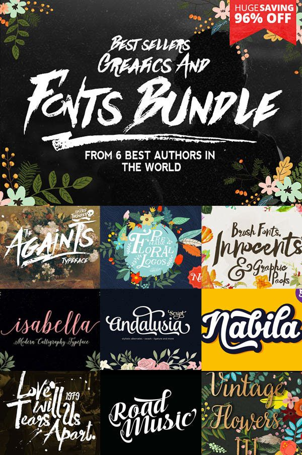 Best sellers Fonts And Graphics on Behance
