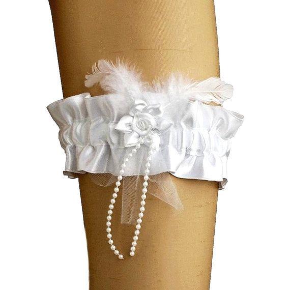 bridal white garter garter in wedding vintage by FashionForWomen