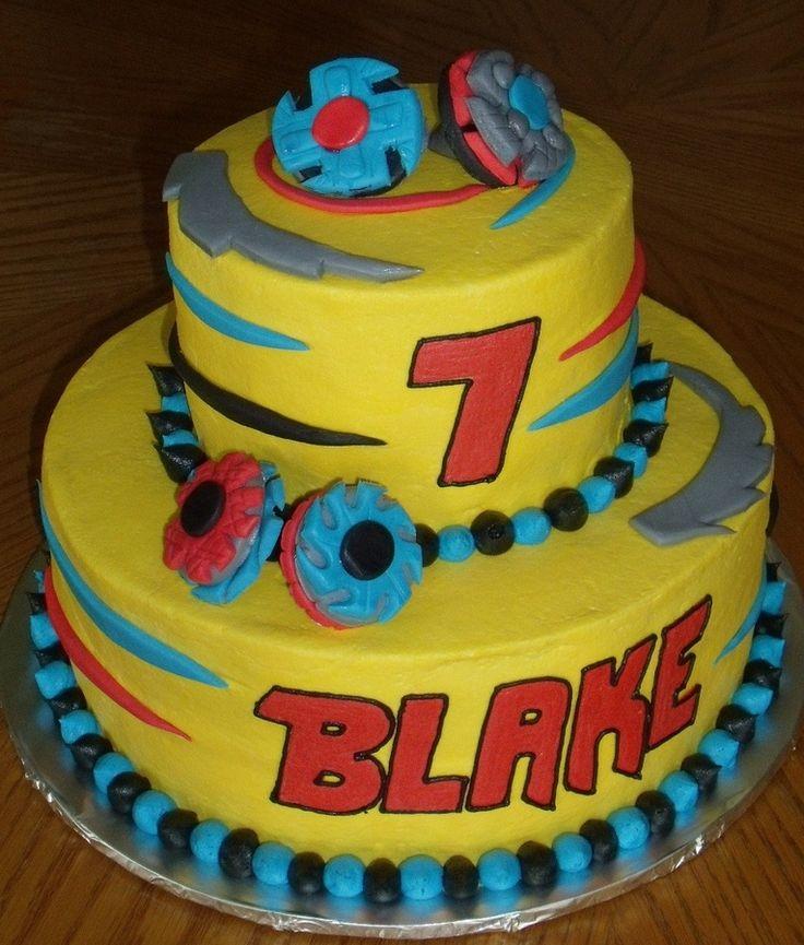 Beyblade birthday cake