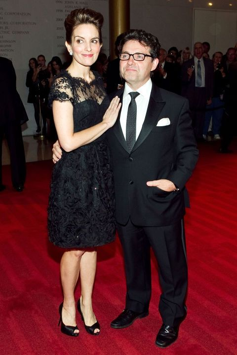 "Tina Fey (5'5"") and Jeff Richmond"