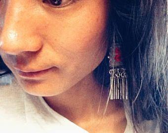 Tibetan jewelry/ Miao silver handmade earrings