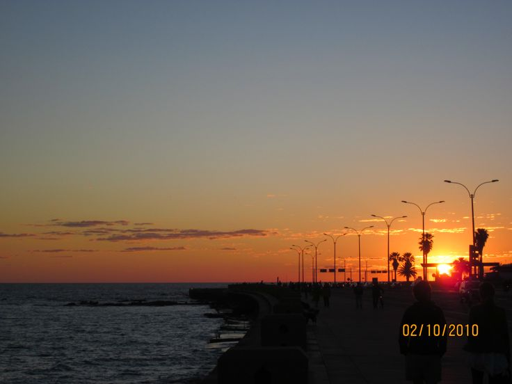 Wandering the streets of Montevideo, Uruguay at sunset.