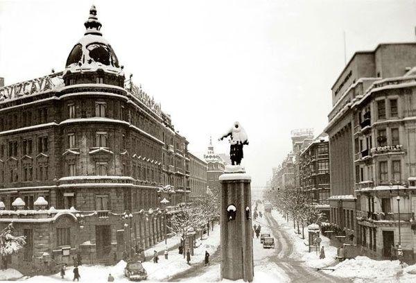 Gran nevada. Bilbao, 1940.
