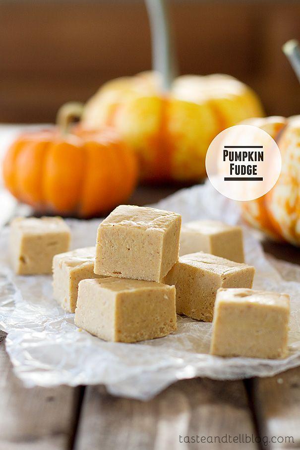 Pumpkin Fudge   Taste and Tell