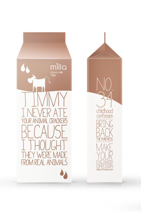 chocolate milk confessions #packaging #chocolate