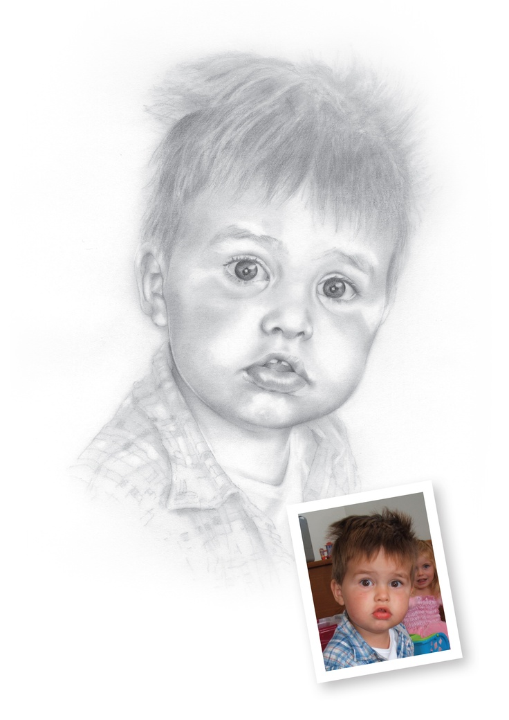 "Pencil Drawings of Boys - Archie.  ""You are very talented!!! Great portrait.""   LS, New Zealand"