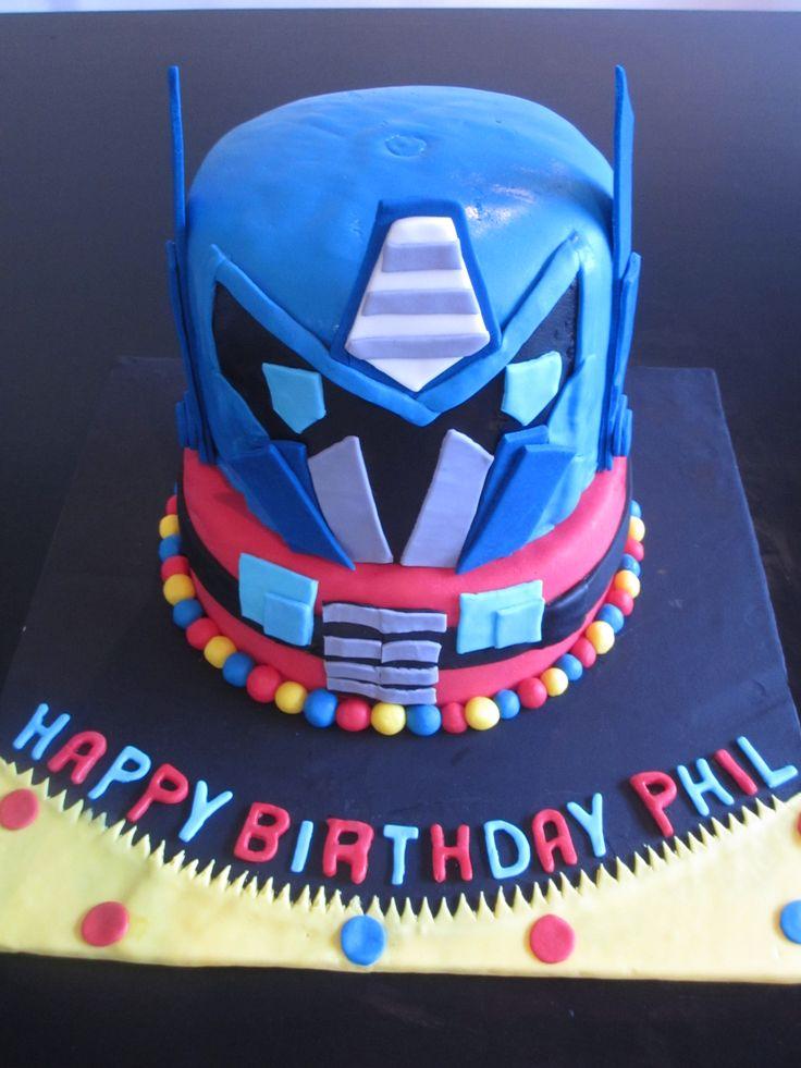 Transformers 'Optimus Prime' Cake