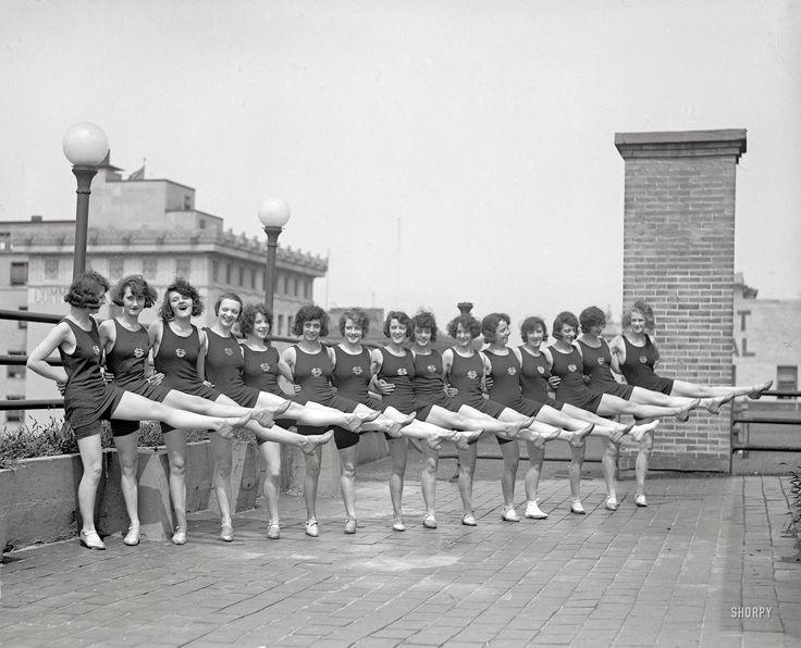 "Washington, D.C., July 1923. ""Sunshine Girls."" Also known as the Tiller Girls, a dance troupe originated by the British musical-theater impresario John Tiller."