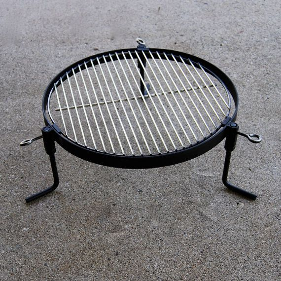 Compact portable BBQ bug out grill camping by BlacksmithCreations