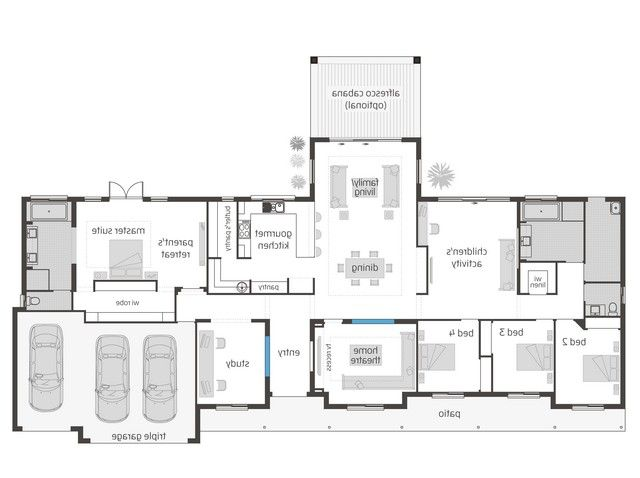 Hunting Lodge Floor Plans Home Design Floor Plans House Layouts Dream House Plans