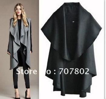 Free Shipping/Hot Sale Women's Fashion Wool Coat/Ladies' Noble Elegant Cape/Shawl