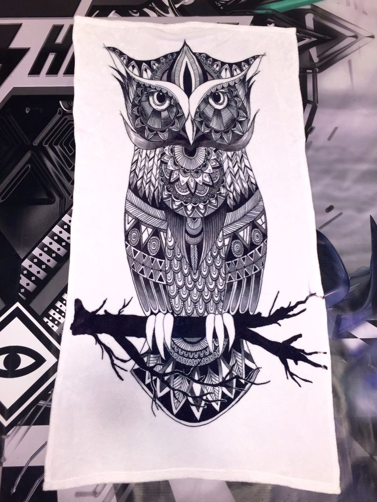 Owl Zentangle Beach Towel!