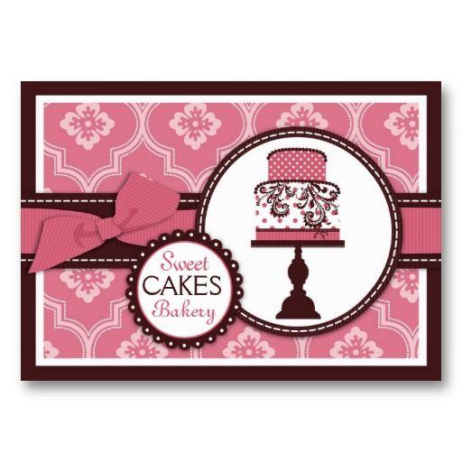 こんな名刺をもらったら、ずっと手元においておきたくなること間違いなし。ベーカリー/ケーキ屋さん、お菓子の料理教室などにぜひ。#zazzle #名刺