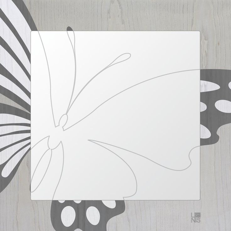 Animalier Butterfly Specchio Cold - LIGNIS