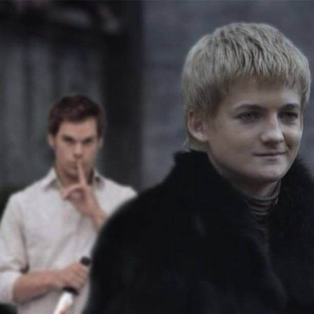 YESSS!!! IF ONLY THIS WOULD HAPPEN!!!! DEXTER KILLS JOFFREY!!! PLEASEPLEASEPLEASEPLEASEPLEASE!!! HE NEEDS TO DIE!