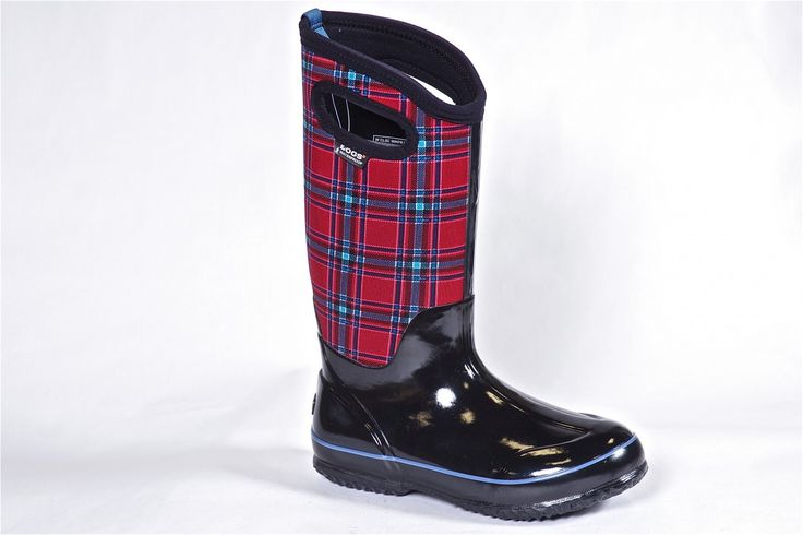 Classic Winter Plaid by Bogs (women's) - The ideal winter boot. -40 rated this boot is waterproof and slush proof. Available at Miller Shoes Stores - http://millershoes.com/shop/bogs/classic-winter-plaid/