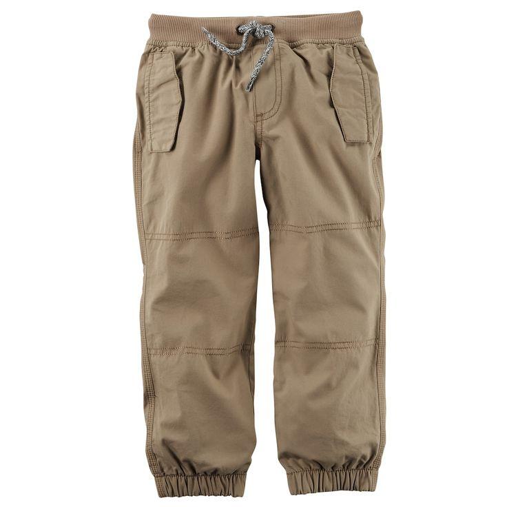 Toddler Boy Carter's Poplin Pants, Size: 2T, Med Beige