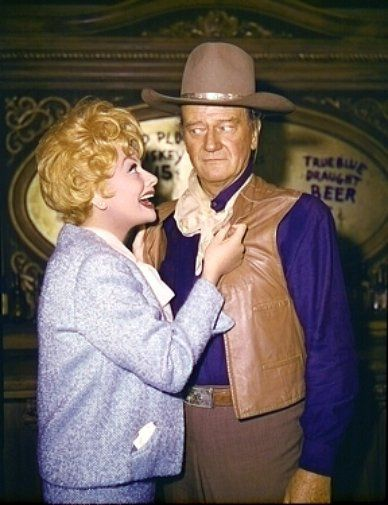 Lucille Ball and John Wayne