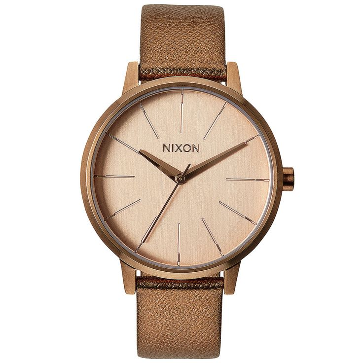 KENSINGTON LEATHER - ROSE GOLD SHIMMER Nixon watch available at www.mulierstore.com