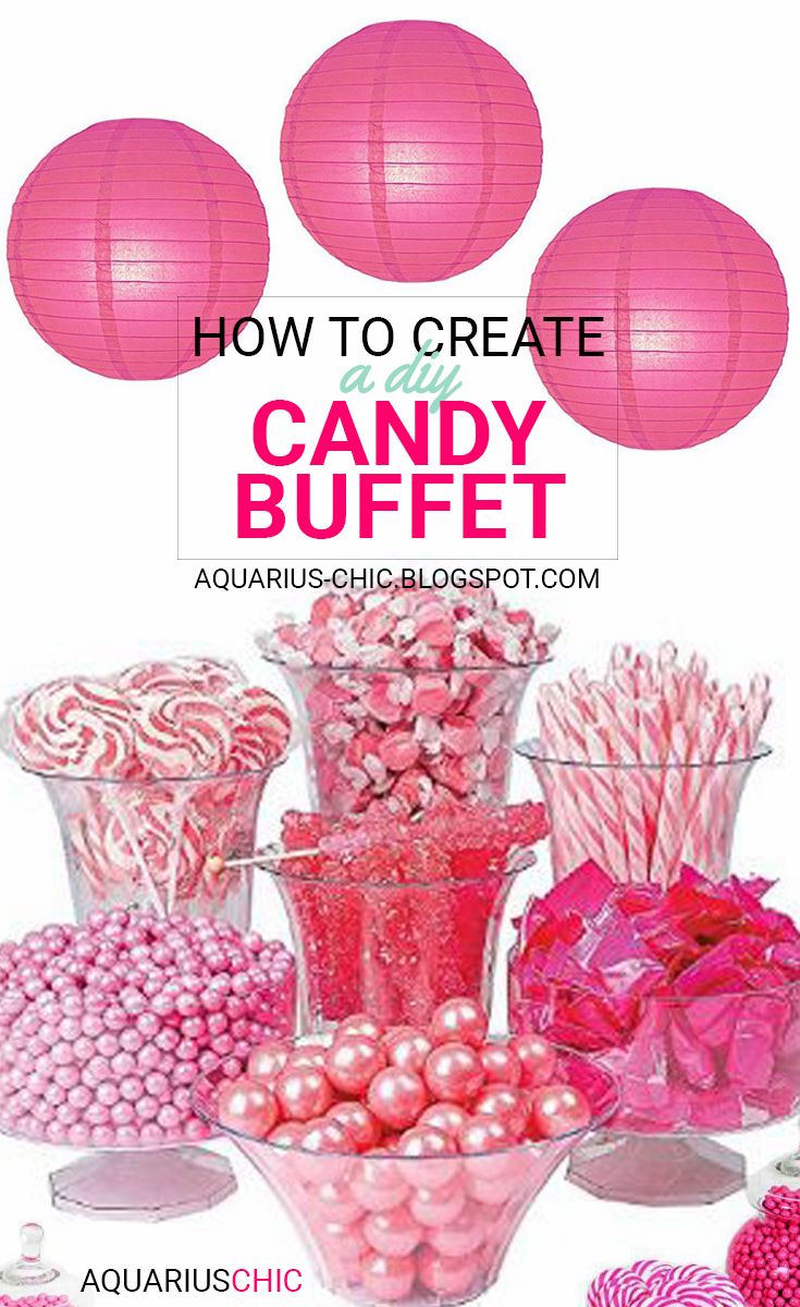 AQUARIUS-CHIC: How to Create A DIY Candy Buffet
