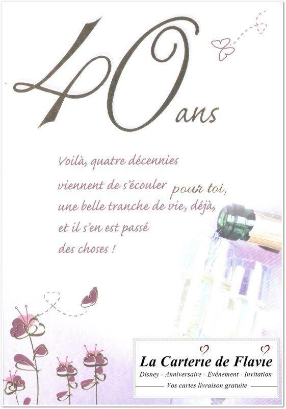 Carte D'anniversaire Texte A Imprimer Awesome Carte D Invitation Anniversaire De Mariage 40 Ans ...