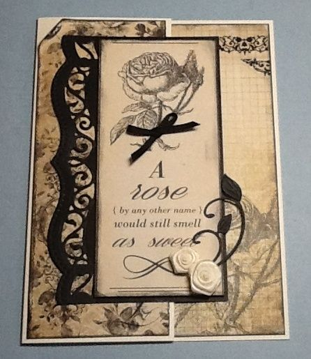 Kaisercraft Art of life papers, Spellbinders bracket borders 1.
